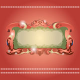 Cadre de vintage sur le fond rouge Illustration de Vecteur