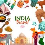 Cadre de voyage d'Inde illustration stock