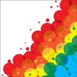 Cadre des cercles de couleur illustration stock