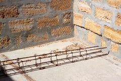 Cadre des garnitures sur le bâtiment. Image libre de droits