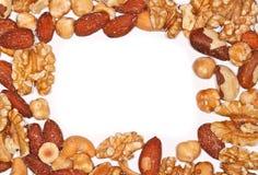 Cadre des noix mélangées Image libre de droits