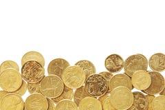 Cadre des pièces de monnaie australiennes Image libre de droits