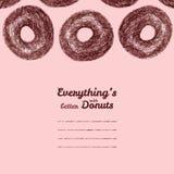 Cadre des textes 'Tout est meilleur avec des butées toriques' Illustration de beignet Photo libre de droits