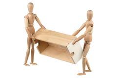 Cadre deux en bois tourné fictif photo stock