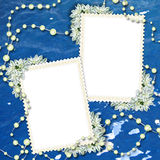 Cadre deux pour photos ou lettres Image libre de droits