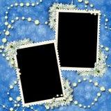 Cadre deux pour photos ou lettres Photo libre de droits