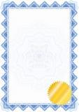 Cadre/diplôme ou certificat classique de guilloche Image libre de droits