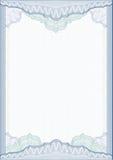 Cadre/diplôme ou certificat classique de guilloche Photographie stock