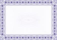 Cadre/diplôme ou certificat classique de guilloche Image stock