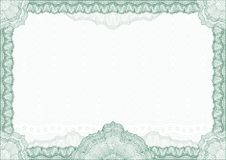 Cadre/diplôme ou certificat classique de guilloche Photos stock