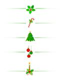 Cadre/diviseur de Noël Photos libres de droits