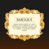 Cadre du baroque de vecteur Photographie stock libre de droits