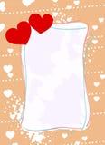 Cadre du jour de Valentine Photo libre de droits