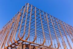 Cadre en acier de Rods de construction Photos stock