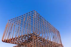 Cadre en acier de Rods de construction Images libres de droits