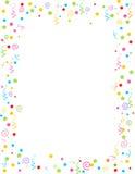 Cadre en baisse de confettis Image libre de droits