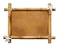 Cadre en bambou d'isolement sur le fond blanc Image stock