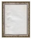 Cadre en bois avec l'intérieur de papier souillé image libre de droits