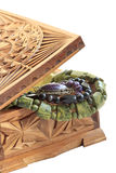 Cadre en bois avec le trésor photos stock