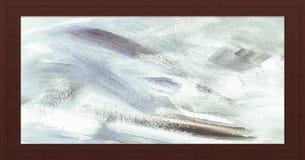 Cadre en bois avec le vieux fond Grande trame en bois Vieux cadre vide en bois de grange Vieux cadre de tableau d'isolement sur l Photos libres de droits