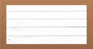 Cadre en bois avec le vieux fond Grande trame en bois Vieux cadre vide en bois de grange Vieux cadre de tableau d'isolement sur l Images stock