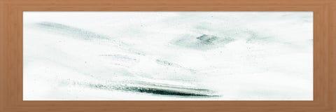 Cadre en bois avec le vieux fond Grande trame en bois Vieux cadre vide en bois de grange Vieux cadre de tableau d'isolement sur l Photo stock
