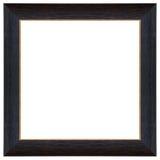 Cadre en bois classique de noir de texture d'isolement images stock