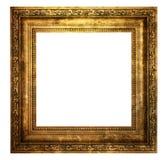 Cadre en bois creux d'isolement sur le blanc image libre de droits