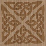 Cadre en bois découpé de style celtique Photographie stock
