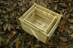 Cadre en bois d'isolement Photo stock