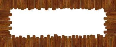 Cadre en bois de bande dessinée Photographie stock libre de droits