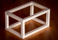 Cadre en bois de cube Photos libres de droits