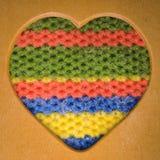 Cadre en bois de forme de coeur Photographie stock libre de droits