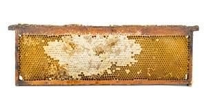 Cadre en bois de nid d'abeilles images stock