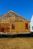 cadre en bois de nouvel en construction à la maison résidentiel Photographie stock libre de droits