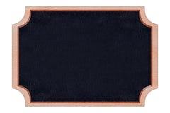 Cadre en bois de tableau de forme avec la surface noire Photos libres de droits