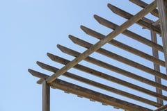 Cadre en bois de toit image libre de droits