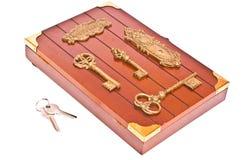 Cadre en bois et clés Photo libre de droits