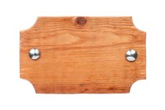 Cadre en bois fait de bois léger avec des rivets de fer et avec un endroit pour votre créativité D'isolement Image stock