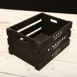 Cadre en bois noir Vivent l'amour de rire Photographie stock libre de droits