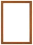 Cadre en bois rouge Photo stock