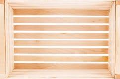 Cadre en bois vide D'isolement sur le fond blanc image stock