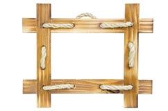 Cadre en bois vide de photo Photographie stock libre de droits