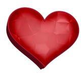 Cadre en forme de coeur Photographie stock
