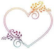 Cadre en forme de coeur avec la suffisance de gradient photographie stock