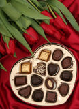 Cadre en forme de coeur de sucrerie Photos stock