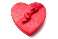 Cadre en forme de coeur rouge Photo libre de droits