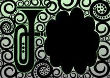 Cadre en laiton d'affiche de trompette illustration stock