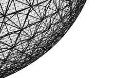 Cadre en métal de la biosphère à Montréal photos stock