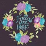 Cadre en pastel de fleur sur le fond foncé avec illustration libre de droits
